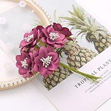1 mazzo/6 pz 11 cm lungo mini bouquet di seta