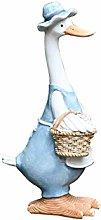 1 pz / 2 pz Nordic Duck Ornaments Resin