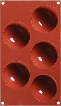 1 pz 5 fori stampo in silicone stampo da forno