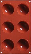 1 PZ 6 Fori Stampo In Silicone Emisferico Stampo