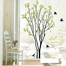 1 pz fai da te albero verde uccello citazione