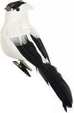 1 PZ Uccello Artificiale Scultura Da Parete
