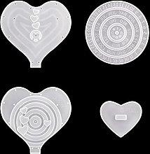 1 Set Luna/Amore Cuore Calendario Stampi in resina