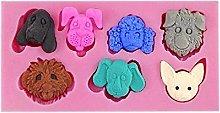 1 stampo in silicone a 7 cavità per dolci, per