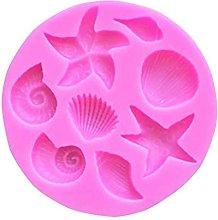 1 stampo in silicone a forma di coda di sirena,
