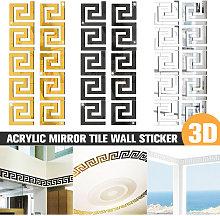10-40PC 3D Acrilico Specchio Piastrella Adesivo da