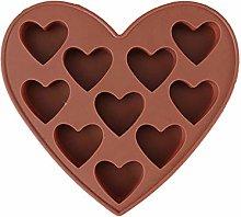 10 cavità amore a forma di cuore al cioccolato al