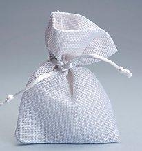 10 pezzi , Bomboniera sacchetto stoffa iuta 10x13