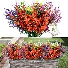 10 pezzi di fiori di lavanda artificiale, 5 colori