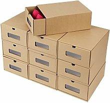 10 Scatole per Scarpe di Carta Kraft, Porta Scarpe