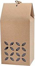 10 scatole regalo in carta kraft, in stile