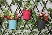 10 x metallo ferro vaso di fiori vaso appeso
