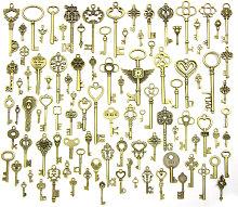 100 pezzi grandi chiavi scheletrate in bronzo