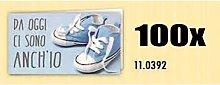 100 PZ Bigliettini bigliettino bomboniera celeste