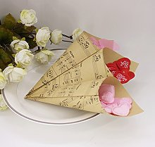 100 PZ Fai da Te Coni Portaconfetti Carta Kraft