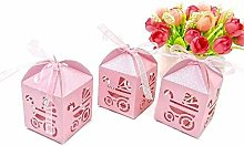 100 PZ Rosa Scatoline Portaconfetti Bambina per
