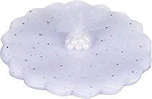 100 PZ Veli Tulle per Confetti Bianco con Punti