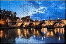 1000 pezzi-Fiume Tevere Puzzle in legno Puzzle fai
