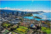 1000 pezzi-Honolulu Puzzle aereo in legno fai da