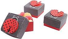 100pz Portaconfetti Scatole cubo Coccinella