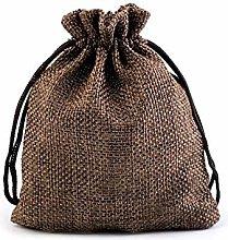 10pc marrone scuro Borsa Regalo 10x12cm Iuta