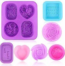 10Pezzi Stampi per Sapone,Silicone per uso