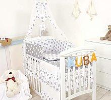 11 Pezzi Set di biancheria per letto culla bambini