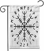 12,5 'x 18' Bandiera Giardino Aegishjalmur