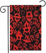 12,5 'x 18' Bandiera Giardino Anarchici