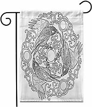 12,5 'x 18' Bandiera Giardino di Tre Corvi