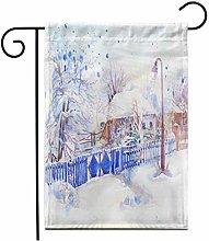 12.5 'x 18' Bandiera Giardino Inverno
