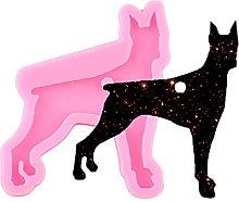 12 forme di cane lucido in silicone stampo