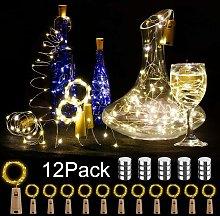12 luci LED per bottiglie, 20 luci a stringa LED
