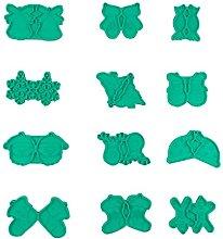 12 orecchini di Natale in resina epossidica stampo