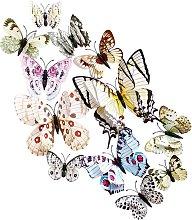 12 pezzi 3D farfalla decorazione bianca, adesivi