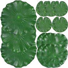 12 pezzi foglie di ninfea realistiche, foglie di