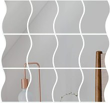 12 pezzi Specchio adesivo da parete Specchio