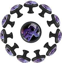 12 pomelli in cristallo da 35 mm, per armadio,