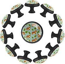 12 pomelli in cristallo da 35 mm per armadio e