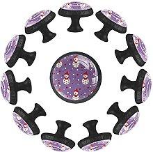 12 pomelli in cristallo da 35 mm, per armadio, per