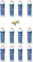 12 Pz Bombola + Rubinetto Gas Refrigerante Frigo