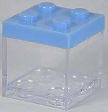 12 PZ Scatola plexiglass portaconfetti Lego