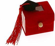 12 PZ Scatolina Rossa portaconfetti Finestra e