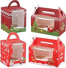 12 scatole regalo natalizie per biscotti e