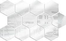 12PCS Decalcomanie da parete a specchio Adesivi