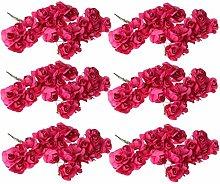 144 mini rose artificiali di carta bouquet fai da