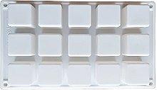 15 cavità cubo quadrato silicone stampo torta