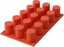 15-foro cilindrico fondente torta in silicone