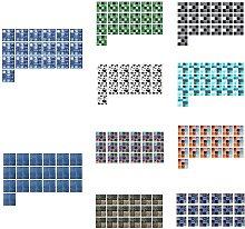 19 fogli/set adesivi impermeabili antiolio per