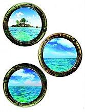 1art1 Finestre - Illuminator Sticker Adesivo da
